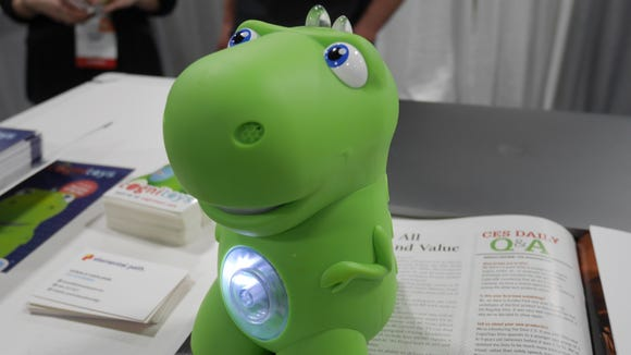 The Cognitoys Dino is essentially an Amazon Echo for kids.