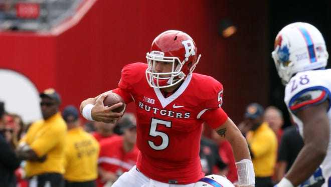 Rutgers quarterback Chris Laviano was the target of much fan ire as last season took a turn for the worst.