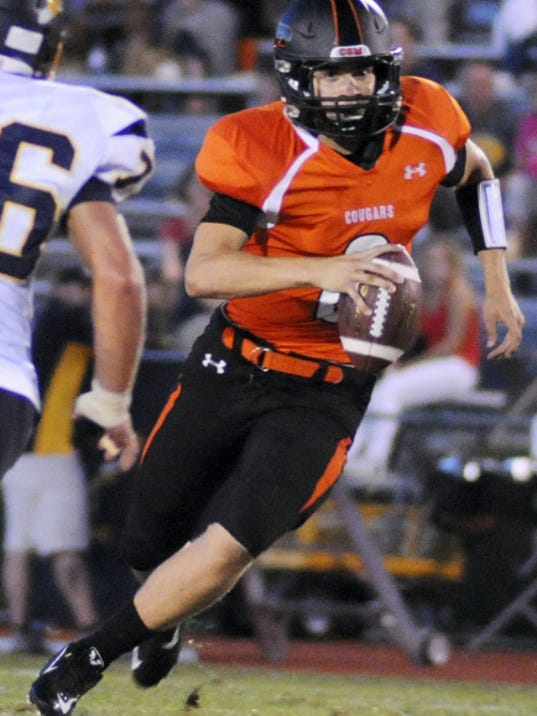 The play of quarterback Tyler Gallagher has been one of many keys to Palmyra's 5-0 start to the season.