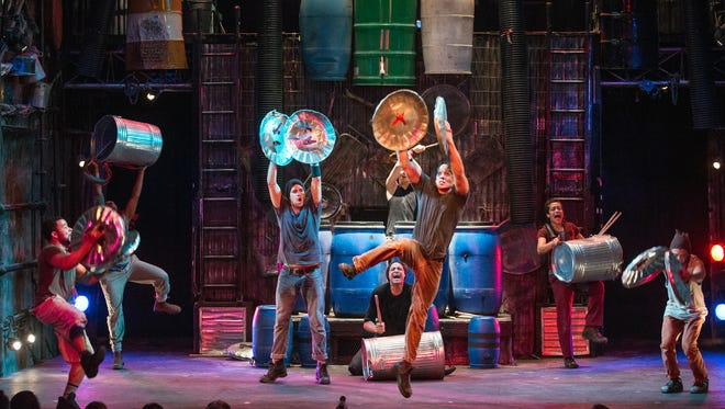 """The first Broadway Series show of the season is """"Stomp"""" on Nov. 16."""