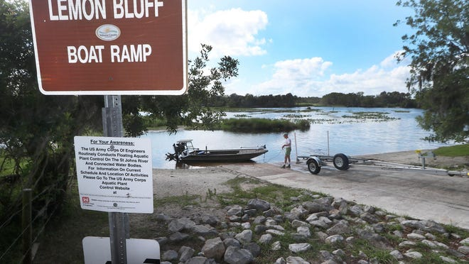 Scott Green launches his boat on the St. Johns River at the Lemon Bluff boat ramp on Friday, May 10, 2019. For several years, Volusia County has wanted to develop a full-use park at the site.