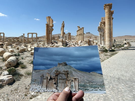 Syria S Arch Of Triumph Destroyed By Islamic State Recreated In London