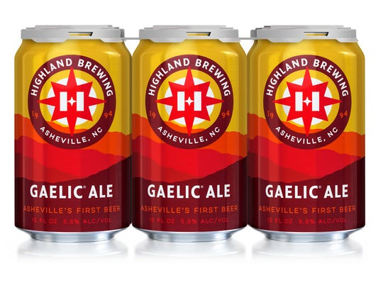 Highland's new Gaelic Ale cans.