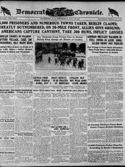 The May 29, 1918, front page of the Democrat and Chronicle.