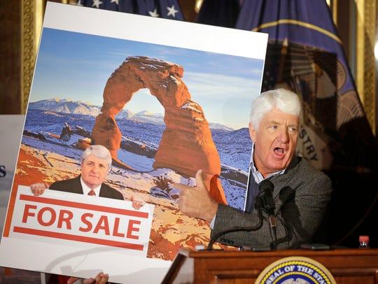This Jan. 20, 2016, file photo, Rep. Rob Bishop, R-Utah,