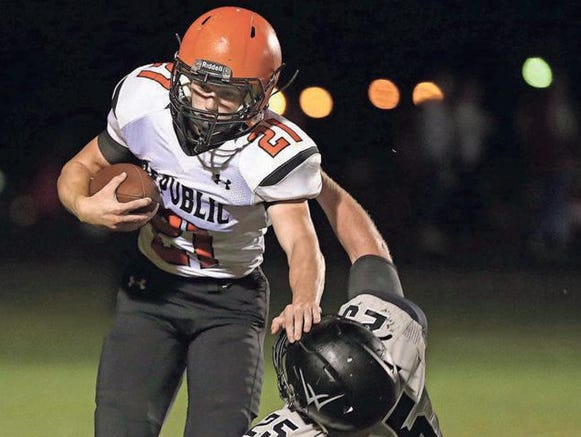 Jerney Jones and the Republic Tigers will attempt to keep pace with Glendale's high scoring offense Friday night in Republic.