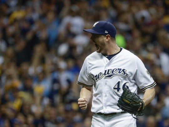 Corey Knebel combined with Josh Hader, Jeremy Jeffress and others to give the Brewers a lock-down relief corps.