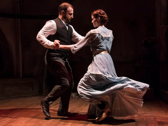 """Zander Meisner and Sara Brophy in the Ensemble Theatre Company's production of """"Syncopation."""""""