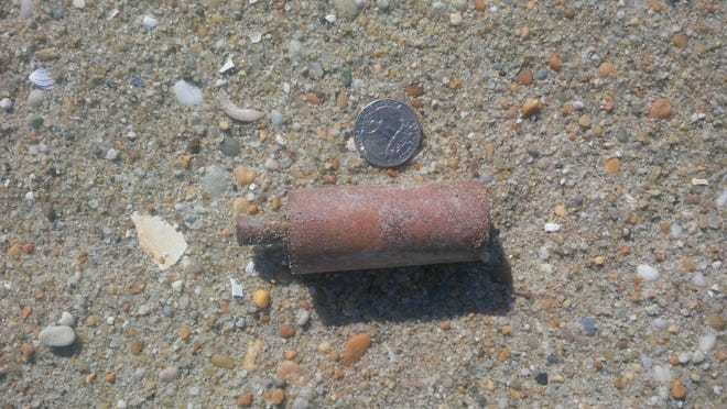 About 90 boosters, components of World War I-era projectiles, have been found on the beach in Loch Arbour and Allenhurst.