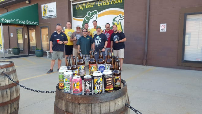 """Fred Karm joined The Flight Crew recently outside Hoppin' Frog Brewery in Akron. Karm opened the tasting room as part of his efforts to find """"the perfect pint."""""""
