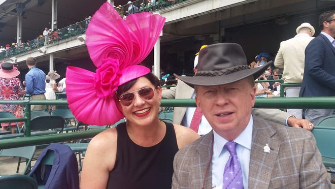 Tom Carpenter and wife Rhonda at the 142nd Kentucky Derby on May 7, 2016