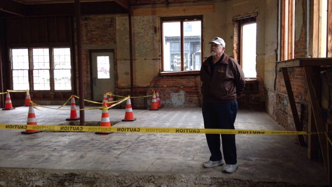 Snow Hill Mayor Charlie Dorman inside the town's former Opera House, built in 1908 and renovated earlier this year.