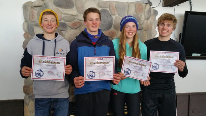 Members of the Granite Peak ski team who are competing in the Junior Nationals this week are Jack Eder, from left, Huck Colby, Sheridan Westphal and Brandon Zoll.