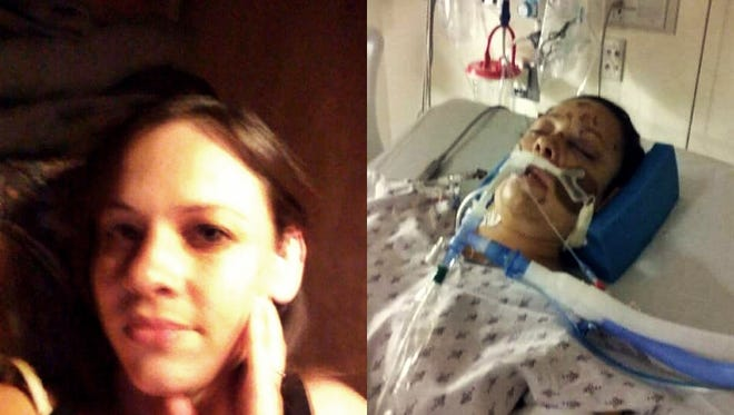 Relatives of Lisa Islas, 31, shared this photo of her before and after being hit by a train in Springfield.