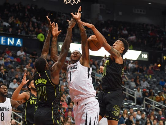 Feb 6, 2018; Atlanta, GA, USA; Memphis Grizzlies forward