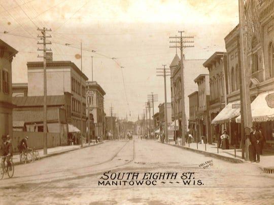 South 8th Street, Manitowoc, circa 1900.