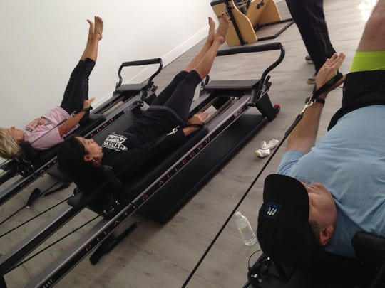 Apparatus classes utilize Pilates equipment such as the Pilates Reformer in a small-group setting to deliver maximum results.