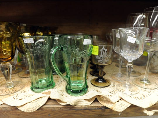 A vareity of items fill the shelves at Sue and Vic's Thrift and Gift, 474 N. Main St.