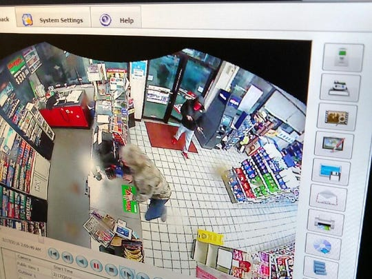 A clerk was shot during an early-morning robbery at