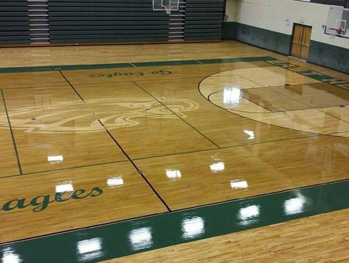 East Henderson has a new gym floor, courtesy of Haywood County's Carolina Hardwood.
