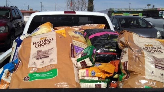 Tractor Supply Co. Store in Deming donated a huge load of pet food to Deming Animal Guardians' Pet Food Bank recently. DAG is a nonprofit organization that helps control the pet population in Deming and Luna County and also provides support for low-income pet owners. All food was distributed to families in need to feed their companion animals. Spay/neuter discount information was provided along with the food.  Local pet owners say Tractor Supply is awesome.