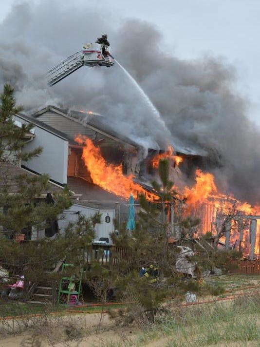 Keansburg, Shore Blvd - structure fire