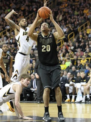 A.J. Hammons had one of his best all-around games of the season.