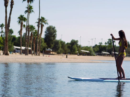 Kayaks, canoes and stand-up paddleboards are available