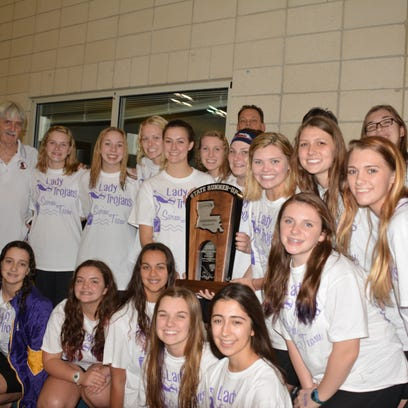 The ASH Trojans finished second in Division II at the LHSAA state swimming meet.