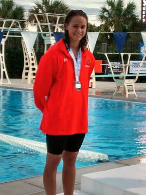 Lely junior Audrey Delcompare finished second in the 200-yard individual medley and sixth in the 100-yard breaststroke at the Class 2A state swim meet in Stuart last week.