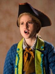 Sceri Sioux Ivers plays Jim Hawkins in the Utah Shakespeare