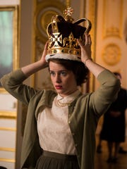 "This image released by Netflix shows Claire Foy in a scene from, ""The Crown."" Foy was nominated for a Golden Globe award for best actress in a drama series or motion picture made for TV on Monday, Dec. 11, 2017. The 75th Golden Globe Awards will be held on Sunday, Jan. 7, 2018 on NBC.  (Netflix via AP)"