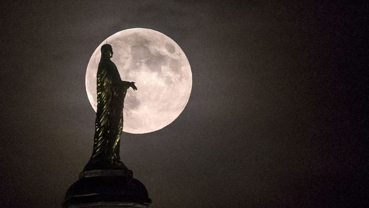 'Worm supermoon' will be the last of 2019. Here's when to see it in Indiana.