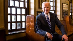 Vice President Joe Biden poses for a portrait at McGillin's