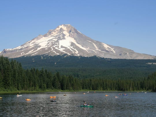 Trillium Lake features beautiful views of Mount Hood, but often fills up extremely fast on summer weekends.