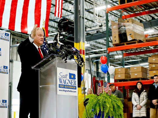 State Sen. Scott Wagner officially announces his intentions to run for governor in 2018 during a press conference at Penn Waste in East Manchester Township, Wednesday, Jan. 11, 2017. Dawn J. Sagert photo