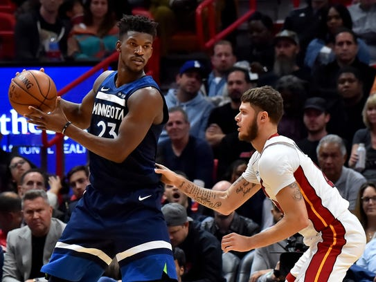 Minnesota Timberwolves forward Jimmy Butler (23) is