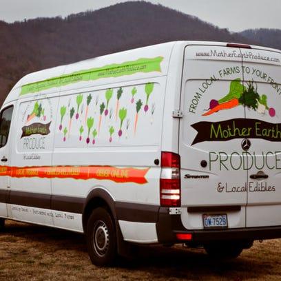 The Winter Sun Produce van.