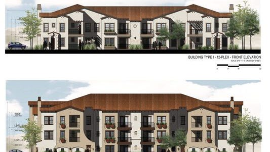 A rendering of what the Summit Club Apartments could look like near the The Summit shopping center in Reno. The apartment will feature regular market rate combined with workforce or affordable housing to help address rent affordability.