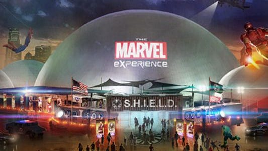 The launch of the Marvel Experience has been delayed a week.