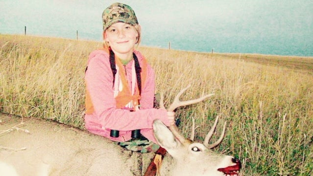 Madison Hermiller took this white-tailed deer during the youth hunt on Oct. 15.