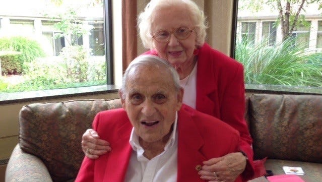 Shirley and Jack Fawcett recently celebrated their 75th wedding anniversary.