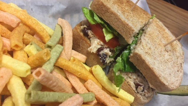 Southland Books & Cafe in Maryville offers classic sandwiches and vegetable straws.