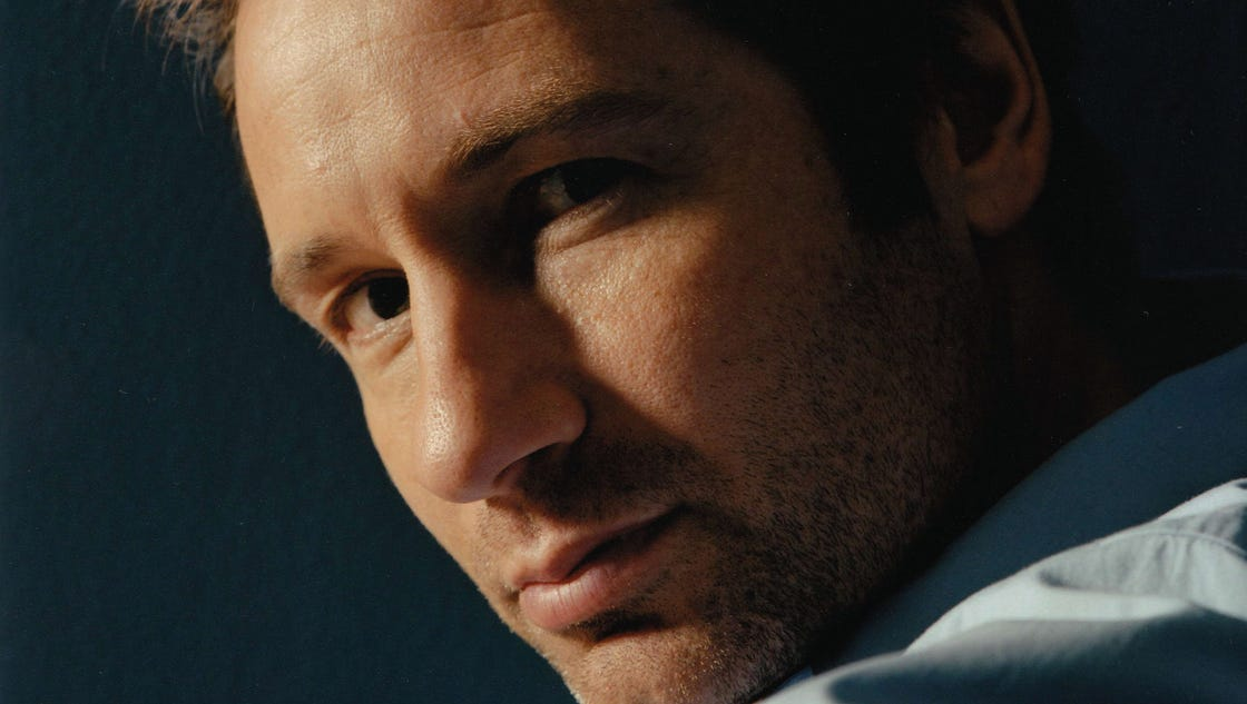 David Duchovny hits a ...