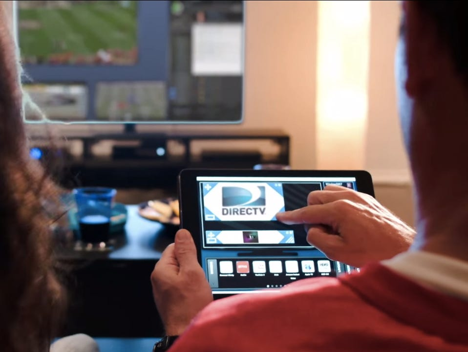 Skreens TV lets you use your tablet to arrange five screens on one display.