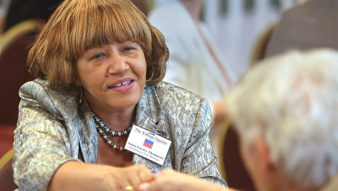 """Former City Manager Anita Favors Thompson   at a """"Speed Date Your Local Leaders"""" event in 2013."""