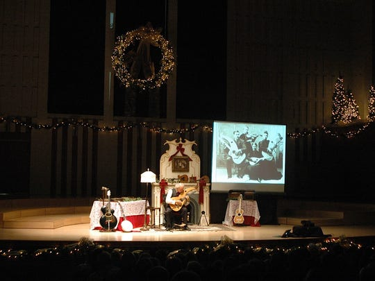 """Emmy-Nominated musician and storyteller John Doan brings his """"Christmas Unplugged – Reclaiming the Holiday Spirit"""" program to Willamette University's Hudson Hall on Dec. 10."""