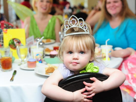 Carleigh Eaden, 2, at the 2015 Ark Crisis Child Care Center Fairy Tale Ball.
