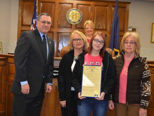 Pictured: Brad Schneider, Judge Executive; Cynthia