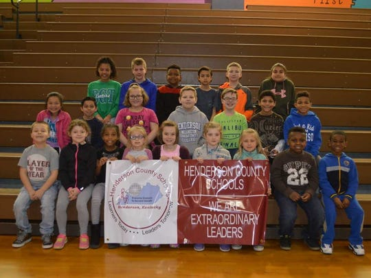 Bend Gate Elementary's February leaders of the month were, front row from left: Joseph Howard, Annamay Kellen, Kahlayah Hall, Aspyn Mayfield, Parker King, Marley Staton, Layla Gugel, Noah Lewis and Javie Lockett. 2nd row: Kaylee Kennedy, Armando Molina, Gabbie Bulich, Max Hoggard, D. J. Palen, Maurese Westerman and Zarion Rideout. Back row: Avianna Abell, Gavin Herndon, Daveon Foreman, Lucas McDonald, Mason Hutcheson and Roxanna Quintanilla. Not pictured: Molly Coomes, Jlaniz Medina, Noalee Freer, Landon Chandley and Carolyn Jones.